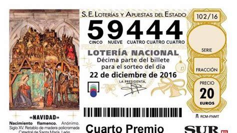 cuarto premio loteria navidad un cuarto premio deja un d 233 cimo premiado en m 225 laga capital