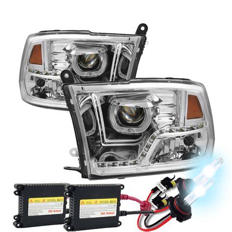 dodge ram hid lights hid xenon 09 17 dodge ram led led drl halo projector