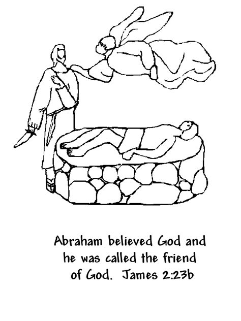 coloring pages for abraham called by god free coloring pages of god calls abraham