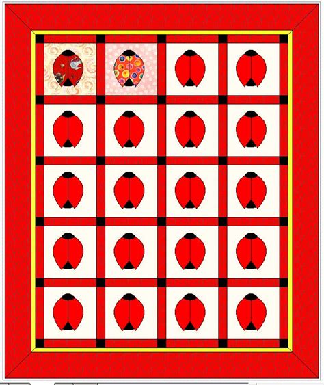 Ladybug Quilt Patterns by Original Quilts Patterns