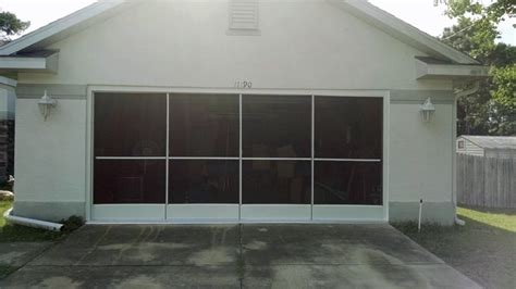 Florida Garage Doors Sliding Garage Screen Door Installation In Hill Fl Screenpro