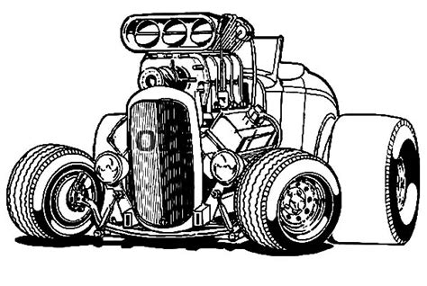 coloring pages hot rod cars hot wheels coloring pages big hotrod car coloringstar