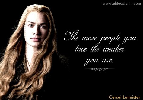 Of Thrones Lannister cersei lannister quotes elitecolumn