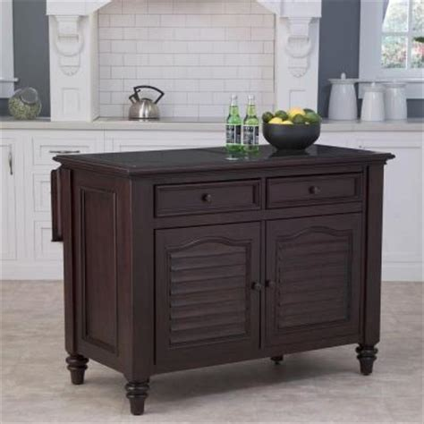 espresso kitchen island home styles bermuda kitchen island with espresso finish