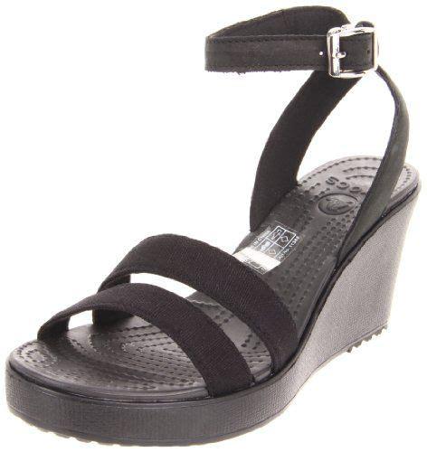 discount crocs sandals crocs s leigh wedge sandal shoes discount