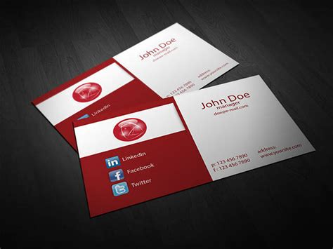 40 best free psd business card templates webprecis