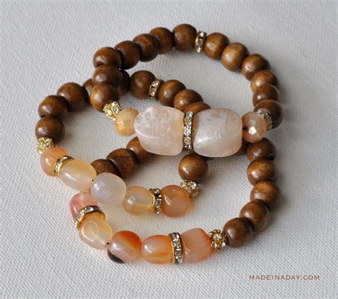 Bead Bracelet diy wood bead bracelets made in a day