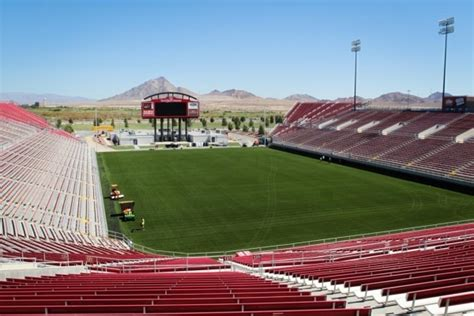 sam boyd stadium field widened  turfed las vegas review journal