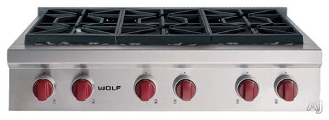 36 wolf cooktop wolf 36 quot pro style gas rangetop contemporary cooktops