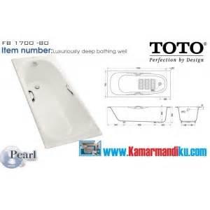 Bath Tub Toto Fb1700 80n White fb 1700 80n toko perlengkapan kamar mandi dapur