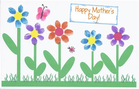 mother day card hollyshome church fun a fingerprint mother s day card