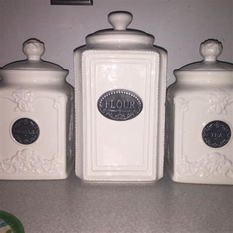 find more thl white ceramic canister set for sale at