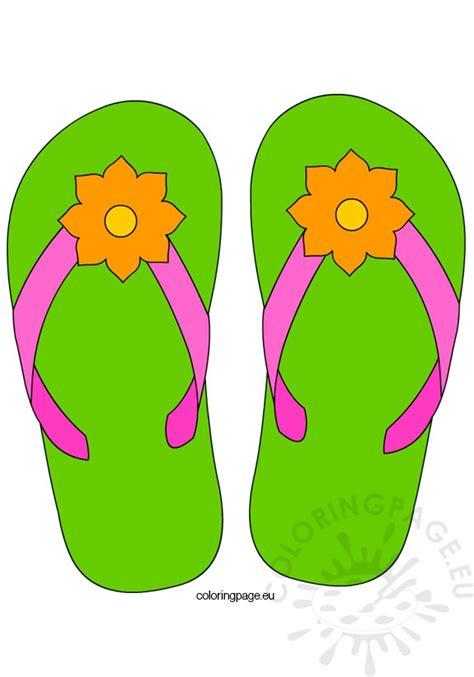 Flip Flop Flowers flower flip flops coloring page