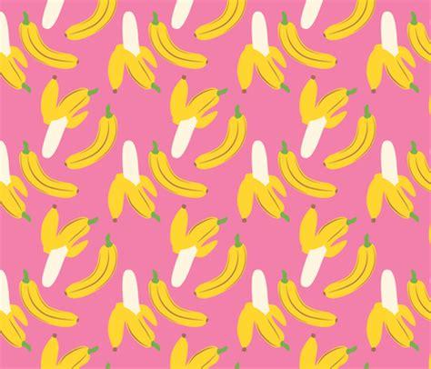 banana fabric wallpaper banana jam pretty in pink fabric hugandkiss spoonflower