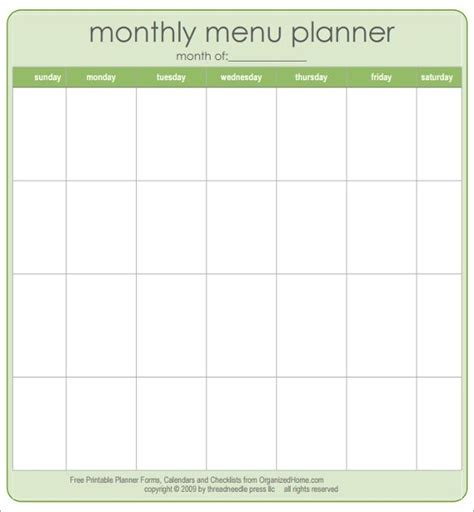 free printable menu templates for printable menu template freepsychiclovereadings