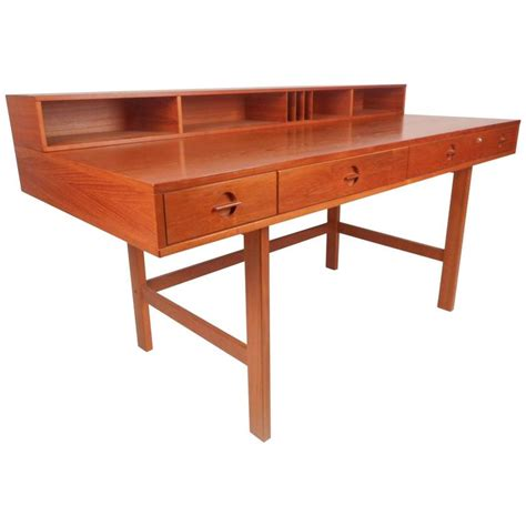 Mid Century Modern Desks For Sale Beautiful Mid Century Modern Teak Flip Top Desk By Jens Quistgaard For Sale At 1stdibs