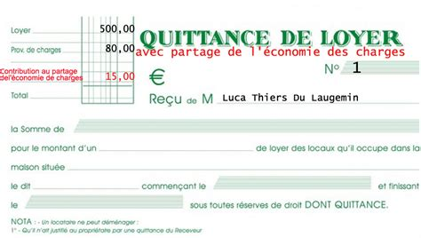 Exemple De Lettre Quittance modele quittance de loyer sans charges document