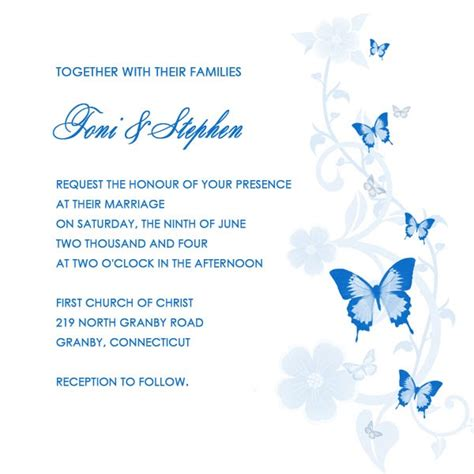 Printable Wedding Invitations by Printable Wedding Invitations Butterfly Printable Wedding