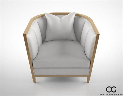 christopher guy armchair christopher guy seurat armchair 3d model max obj fbx cgtrader com