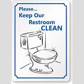 Clean Restroom Signs Clipart - Clipart Kid