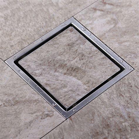 tile insert square floor drain waste grates bathroom