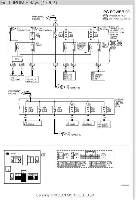 2006 nissan altima ac relay location nissan wiring