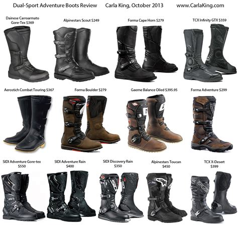 Review of Dual Sport Adventure Motorcycle Boots