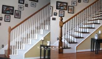 Remodel Stair Railing by Stair Remodeling Before Amp After Gallery Trinity