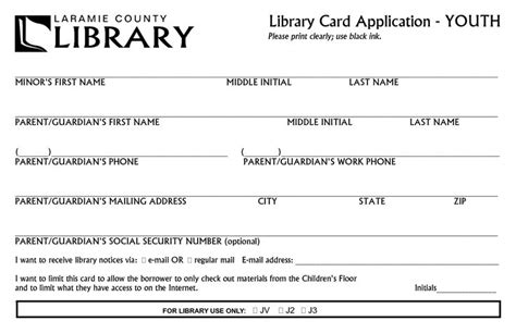Library Card Application Form Template by Pin By Russon On Bury Me In The Library
