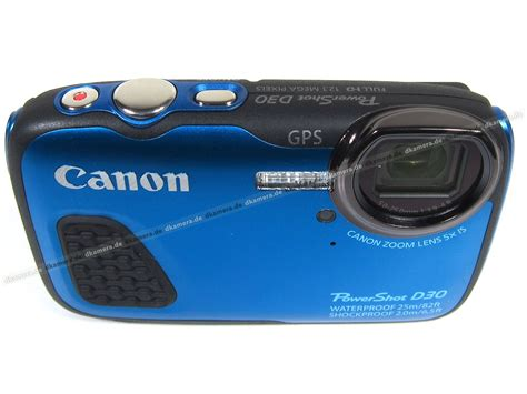 Kamera Canon Powershot D30 die kamera testbericht zur canon powershot d30