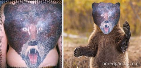 animal tattoo fail 15 terrible tattoo face swaps that show how bad some