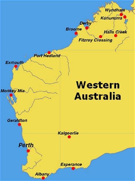 map of western australia map of western australia