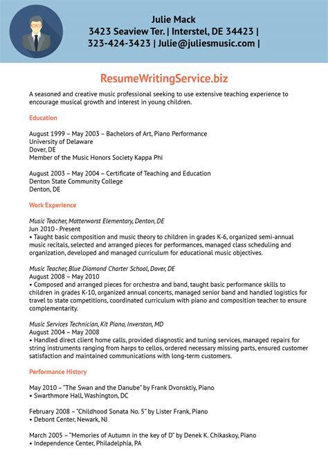 resume music teacher resume
