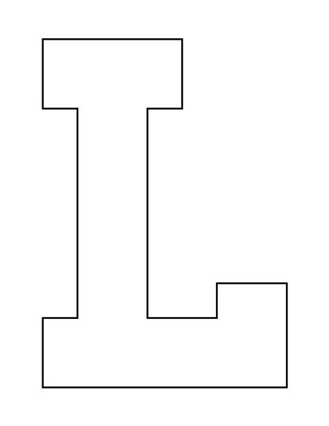 L Small by Letter L Pattern Use The Printable Outline For Crafts