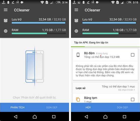 ccleaner quet don o dia dọn dẹp để tiết kiệm dung lượng ổ cứng v 224 gi 250 p smartphone