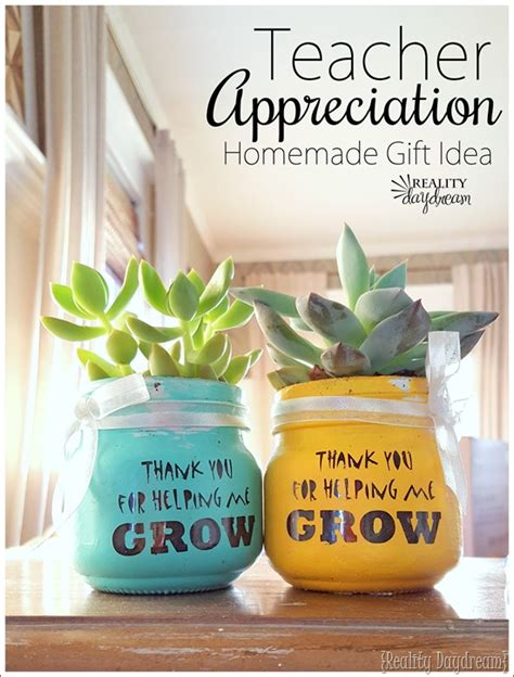 Handmade Teachers Day Gift - teachers day succulent idea thank you for helping me