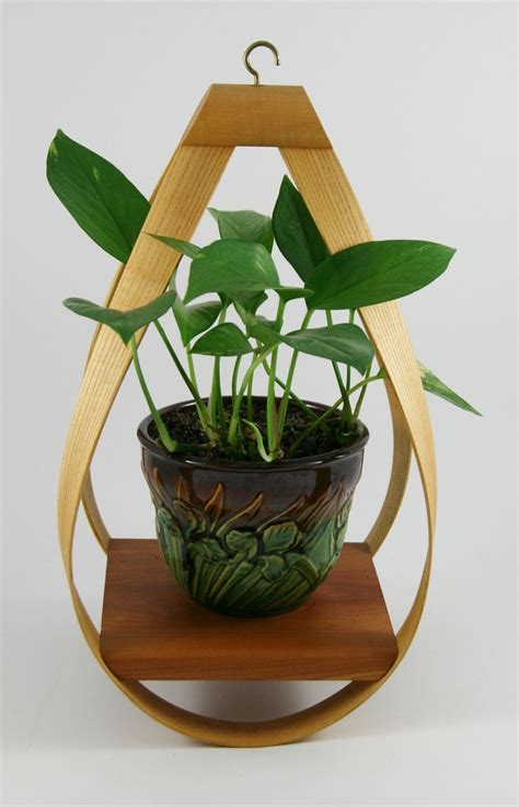 Wooden Hanging Planters by Modern Bent Wood Hanging Planter Planters
