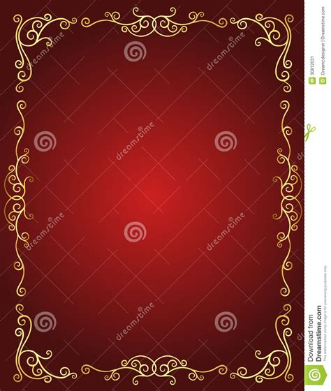 invitation card background templates wedding invitation border in and gold stock vector