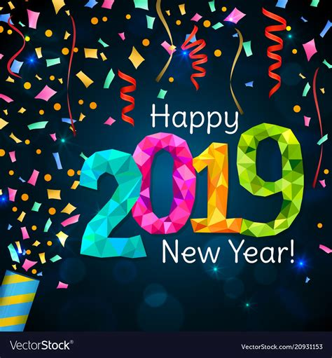 happy  year  royalty  vector image vectorstock