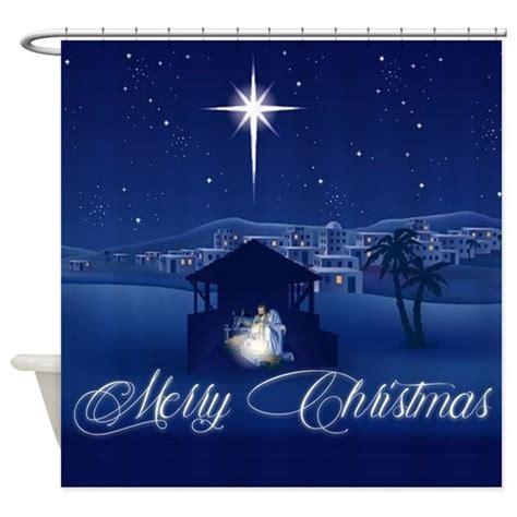 merry christmas nativity shower curtain  admincp