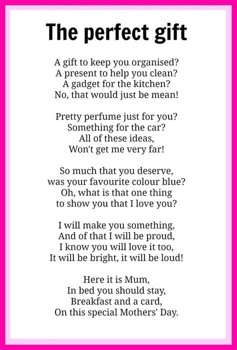 mothers day poems mothers gifts and s day - Gift Poems