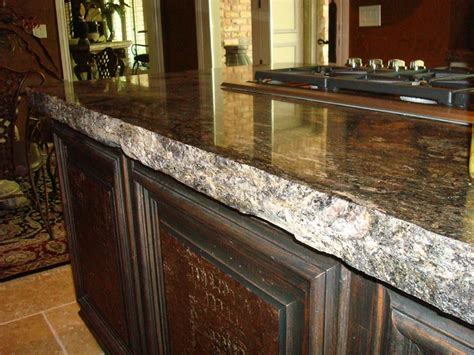 consider granite 3 cm chiseled countertop kitchens