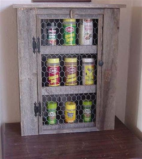 diy barn wood spice rack barnwood spice cabinet for the home