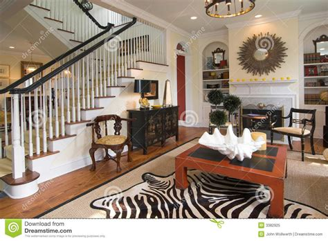 well decorated homes well decorated living room stock image image of rail