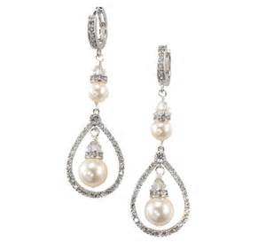 drop bridal earrings buy a crafted ivory pearl drop earrings bridal wedding teardrop earrings swarovski