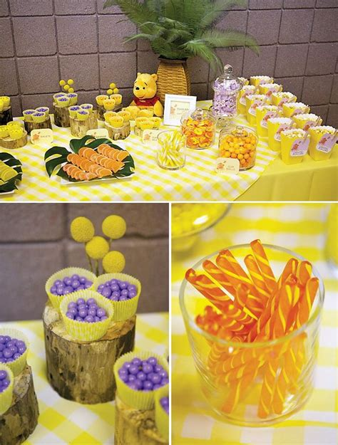 Winnie The Pooh Decorations by Winnie The Pooh Inspired Table Birthdays Yellow Table And Winnie The Pooh