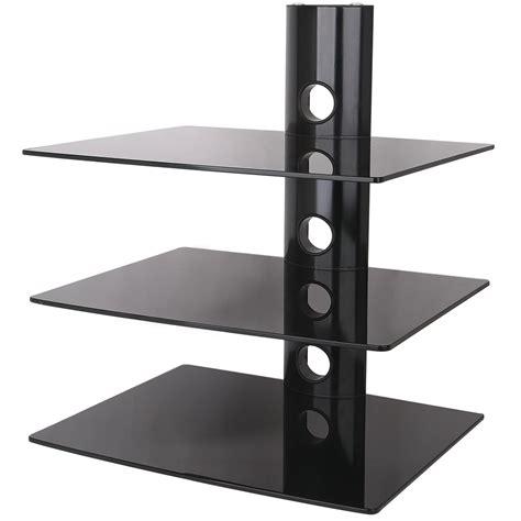 Glass Component Shelf by 3 Tier Wall Tv Component Av Glass Stand Shelf Mount Dvd