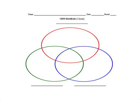 7 Triple Venn Diagram Templates Free Sle Exle Format Download Free Premium Templates Editable Venn Diagram Template