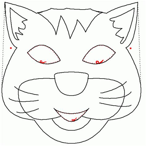 cat mask coloring page cat mask coloring animals coloring to print