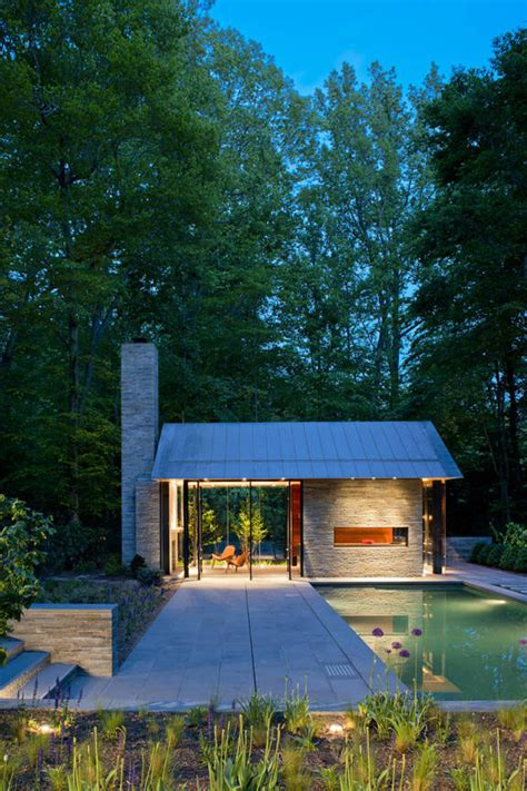 tiny pool house contemporary garden pavilion pool house idesignarch